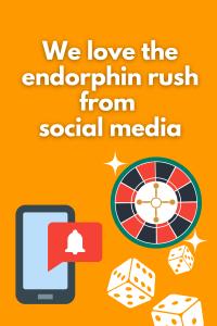 Dopamine boost from social media - gambling and internet social media addiction