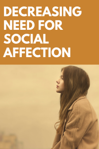 Less Need for Social Affection: Communicating Through Social Media and Technology