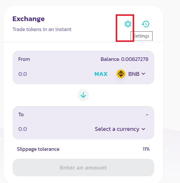 How to buy crypto token elongate error message