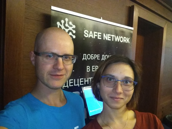 Dimitar Dimitrov from Safe Netowrk's team and Maid Safe